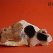 """Tibet Terrier (aus 2 Hunden), eine Seite """"Nandi"""", eine Seite """"Shamba""""  mit Details, ca. B75 x H65 x T5mm (ab 46 € *)"""