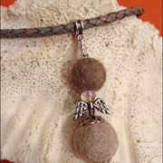 Engel klassisch, mit Schmuckanhänger u. Karabiner (ohne Kette: 26 € *) (mit gefl. Lederkette bis 50 cm 40 €*)