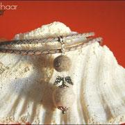Engel klassisch, mit Schmuckanhänger u. Karabiner (mit langer geflochtener Lederkette 70 cm: 42 € *)