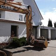 Enkernen des Hauses und Abriss des alten Anbaus
