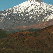 Pico del Teide, schneebedeckt, Teneriffa, Spanien