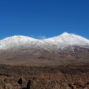 Schnee in den Cañadas del Teide