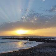 Sonnenuntergang, Playa de Las Américas, Teneriffa