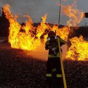 Vorrücken bei einem Flächenbrand