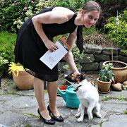 die 3. Chefin: Ines und ich am Tag ihres Abiballs (=