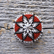 silver&bead concho