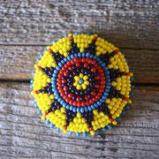 southwest / yellow Lサイズビーズコンチョ