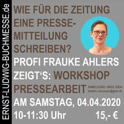 Workshop PRESSEARBEIT mit Frauke Ahlers
