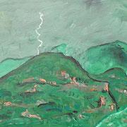 Gewitter, Cevennen, 2013, 30x40cm