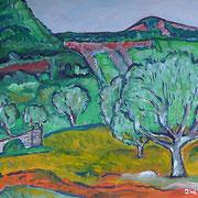 """Landschaft bei """"Naves"""", 2013, 40x50cm"""