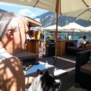 letzter Urlaubstag in der Strandbar am Achensee