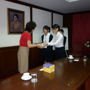 Japanese students from Yasuda Women's University