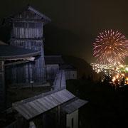 夜の高根城