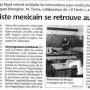 Un de premiers moments de partage: avril 2005, à Floirac... comme journaliste.