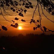 Faszinierender Sonnenuntergang von der Terrasse aus