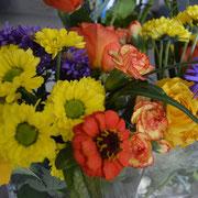Blumen bei Geburtstagsfeier