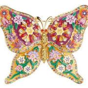 """П562.Брошь """"Бабочка"""" от американского дизайнера Джоан Риверс. Редкий экземпляр, богатый декор эмалями."""