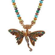 """KF-83. Колье из коллекции 2012 года"""" Saphaedra Butterfly Goddess"""". Ювелирный сплав под античное серебро или золото в наличии, эмали, камни Сваровски. Цена 1600грн"""
