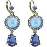 """KF-41. Серьги """"Seaview Moon Tears Leverback Earrings"""". Длина 5см, австрийские кристаллы Сваровски, сплав под бронзу. Очень красивые и стильные серьги.  Цена 1200грн"""