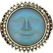 """KF-20. Стретчевое кольцо """"Луна"""". Ювелирный сплав, вставка из авторского стекла с эффектом хамелеон. Размеры на 16-7.5 или 17.5-19.5 в наличии.. Цена 800грн-100$"""