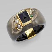 П-708.Браслет от американского дизайнера Алекса Биттара. Люцит, камни Сваровски, позолота.