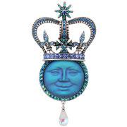 """KF-32. Шикарная брошь-кулон """"Queen Moon"""" .Вставка с Луной-барельефный камень с эффектом инея, камни Сваровски различных оттенков, абсолютно потрясающее украшение. Цена 1500грн"""