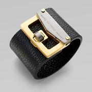 П-707.Дизайнерский браслет Марк Джейкобс.  Нат кожа, ювелирный сплав под золото.