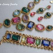 """П-785. Kолье, браслет и серьги из коллекции """"Light up"""" от Роберто Грациано. Ювелирный сплав под золото"""