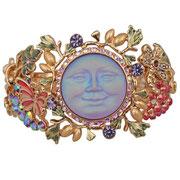 """KF-46. Браслет Цветочная луна"""" излимитированой коллекции. Ювелирный сплав с позолой 22К, богатый декор эмалями.  Цена 1300грн"""