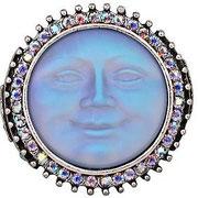 """KF-34. Стретчевое кольцо """"Луна"""". Ювелирный сплав, вставка из авторского стекла с эффектом хамелеон. Размеры на 16-7.5 или 17.5-19.5 в наличии.. Цена 800грн"""