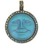 """KF-19. Кулон """"Seaview Moon Magnetic Enhancer """".  Диаметр кулона 5см, австрийские кристаллы Сваровски, сплав под бронзу, выпуклый и обьемный. Цена 1300грн"""