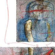 Seducción No.3 / 150 x 100 cms / óleo, acrílico y brea sobre lienzo