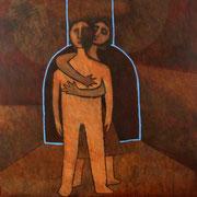 De la serie Abrazos / 150 x 150 cms / técnica: óleo sobre lienzo