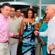 Inauguración Hotel Las Americas Torre del Mar Presidente de Colombia Juan Manuel Santos
