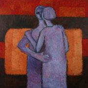De la serie Abrazos / 170 x 130 cms / técnica: óleo sobre lienzo