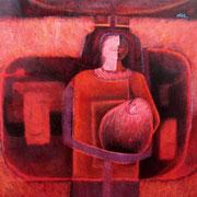 Maternidad / 145 x 145 cms / técnica: óleo sobre lienzo