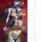 Eva / 150 x 100 cms / técnica: óleo, acrílico y yeso sobre lienzo