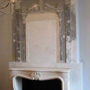 Peinture cheminée avant.