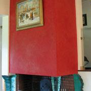 stucco sur cheminée