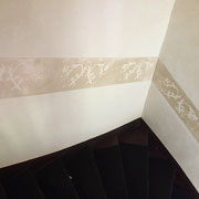 peinture cage escalier decor sgraffito peintre toulouse