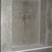 sgraffito niche murale