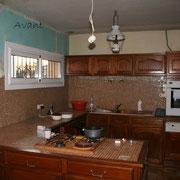 meubleS de cuisine peints avant