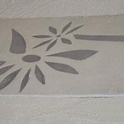 fresque murale details artisan peintre