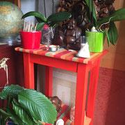 meuble peint console peintre toulouse