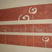 sgraffito décor mural