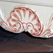 meuble peint buffet détail effet rechampis