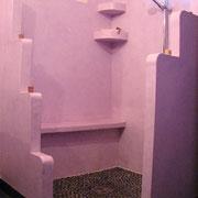Tadelakt traditionnel marocain douche salle de bains