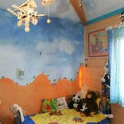 Fresque murale chambre d'enfant