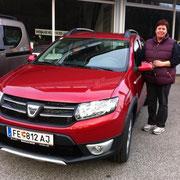 Frau Schneeberger Dacia Sandero Stepway