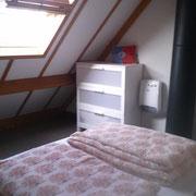 Schlafzimmer Nr 2 im Dachgeschoss